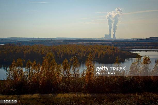 CONTENT] Leipzig/Markkleeberg New lake and power plant in Lippendorf ancient openface brown coal mining