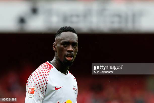 Leipzig's French striker JeanKevin Augustin is seen during the preseason friendly football match between RB Leipzig and Sevilla at The Emirates...