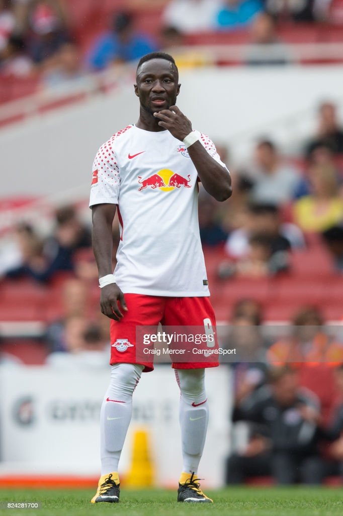 RB Leipzig's Naby Keita during the Emirates Cup match between RB Leipzig and Sevilla FC at Emirates Stadium on July 29, 2017 in London, England.