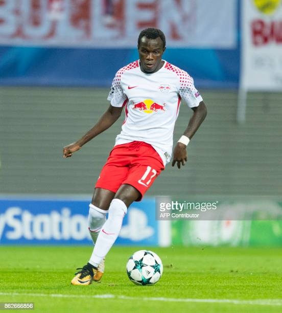 Leipzig´s Portuguese forward Bruma gestures during the UEFA Champions League group G football match RB Leipzig v FC Porto in Leipzig eastern Germany...