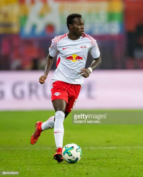 Leipzig's Portuguese midfielder Bruma plays the ball during the German first division Bundesliga football match between RB Leipzig and Hertha BSC...