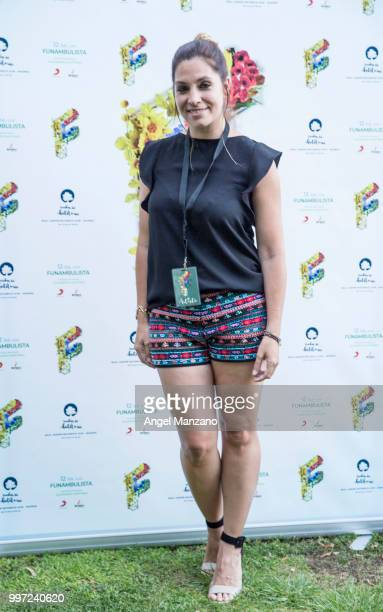 Leire Martinez attends photocall in Funambulista concert at Noches del Bótanico Festival on July 12 2018 in Madrid Spain