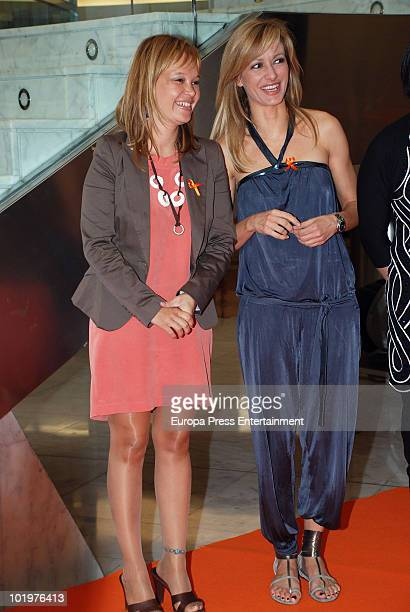 Leire Pajin and Susanna Griso attend the opening of the pictures exhibition 'Mujeres al natural' organized by Sandra Ybarra Foundation at Sexta...