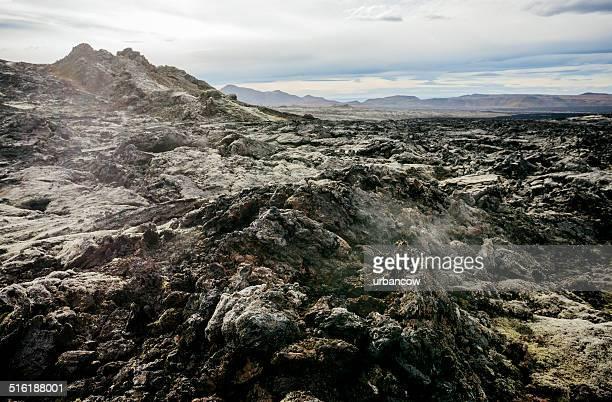 Leirhnjúkur lava campo, Islanda.