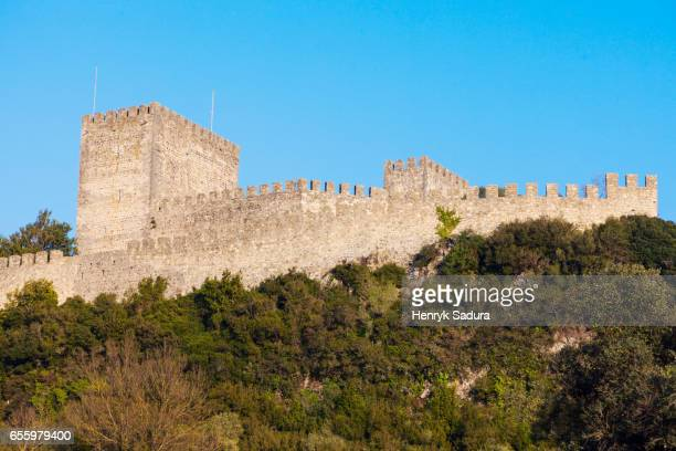 leiria castle - leiria district stock photos and pictures