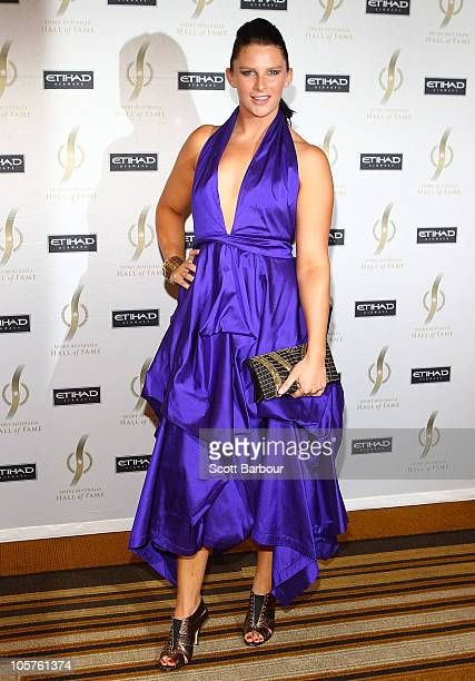 Leisel Jones attends the Sport Australia Hall of Fame at Crown Casino on October 20, 2010 in Melbourne, Australia.
