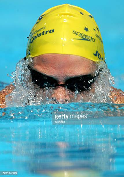 Leisel Jones of Australia competes in the preliminary heat of the 200 meter Breaststroke during the XI FINA World Championships at the Parc...