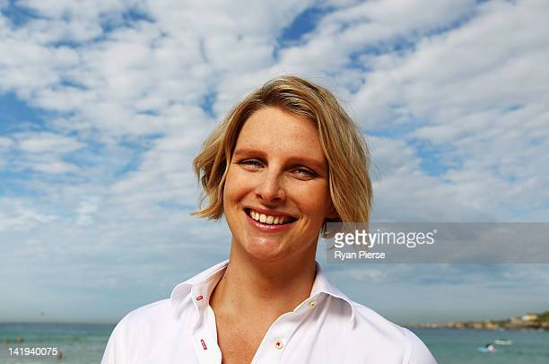 Leisel Jones of Australia poses at Bondi Beach on March 27 2012 in Sydney Australia After earning selection to compete at the 2012 London Olympics...