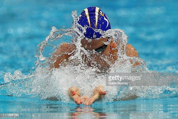 Leisel Jones of Australia races in the Heats of the Women's 100 Metre Breaststroke during day two of the 2011 Australian Swimming Championships at...