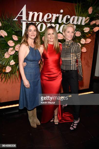 Leisha Hailey Alicia Silverstone and Anne Heche attend the 'American Woman' premiere party at Chateau Marmont on May 31 2018 in Los Angeles California