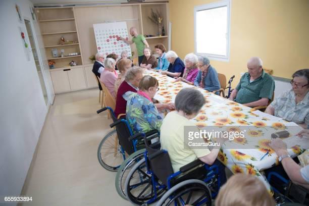 Leisure Activity - Bingo For Seniors In The Retirement Community