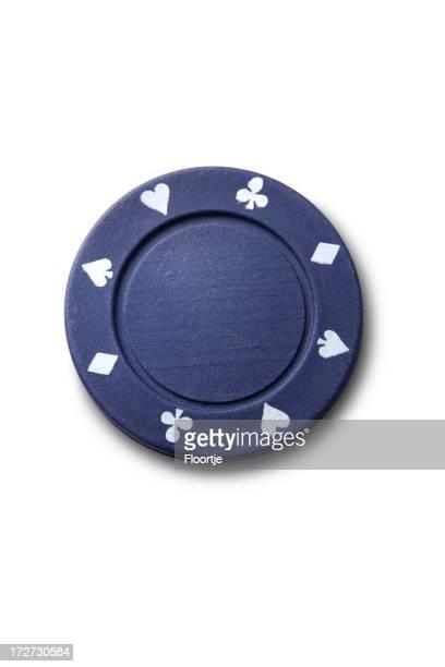 レジャー:ブルーのポーカーチップ