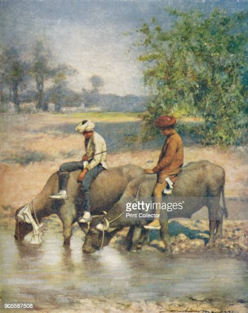 'Leisure Hours' 1905 From India by Mortimer Menpes Text by Flora A Steel [Adam Charles Black London 1905] Artist Mortimer Luddington Menpes