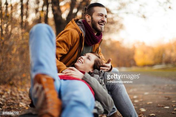 leisure time outdoors - mid adult couple stock pictures, royalty-free photos & images