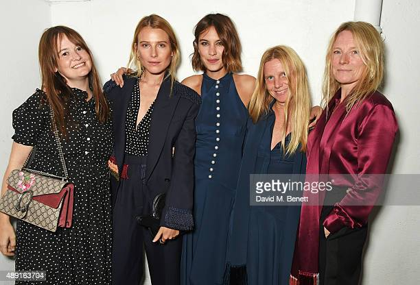 Leith Clark, Dree Hemingway, Alexa Chung, Katie Hillier and Luella Bartley attend a private dinner hosted by Matchesfashion.com to celebrate the...