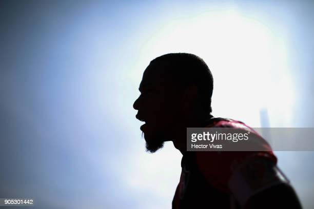 Leiton Jimenez of Atlas looks on during the second round match between Pumas UNAM and Atlas as part of the Torneo Clausura 2018 Liga MX at Olimpico...
