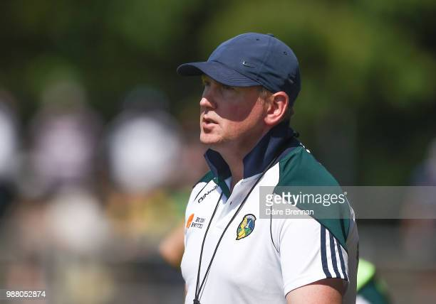 Leitrim Ireland 30 June 2018 Leitrim manager Brendan Guckian during the GAA Football AllIreland Senior Championship Round 3 match between Leitrim and...