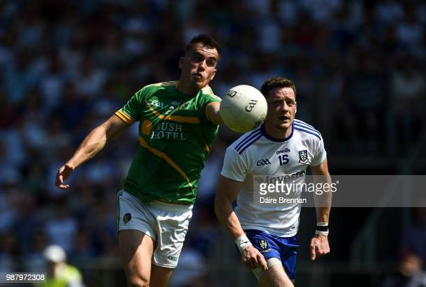 Leitrim Ireland 30 June 2018 Paddy Maguire of Leitrim in action against Conor McManus of Monaghan during the GAA Football AllIreland Senior...