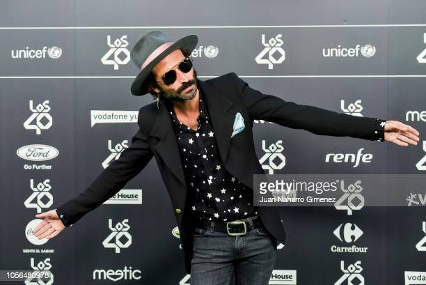 Leiva attends during 'LOS40 Music Awards' 2018 at WiZink Center on November 2 2018 in Madrid Spain