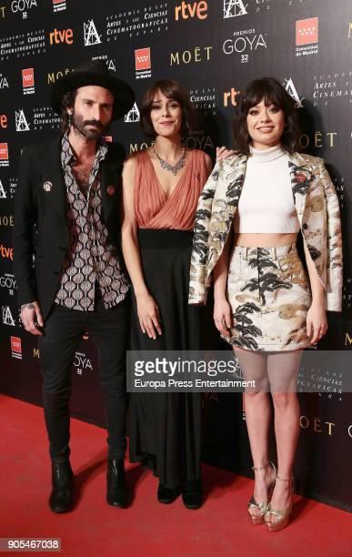 Leiva Belen Cuesta Anna Castillo attend the Goya cinema awards candidates 2018 meeting at Casa de Correos on January 15 2018 in Madrid Spain