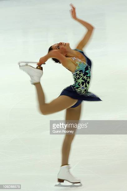 Lejeanne Marais of South Africa skates in the Ladies Short Program during day three of the Four Continents Figure Skating Championships at Taipei...