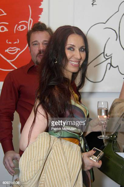 Lejla attends Olympic Artist Jesse Raudales Peace for the Children Art Show at Los Angeles on February 9 2007