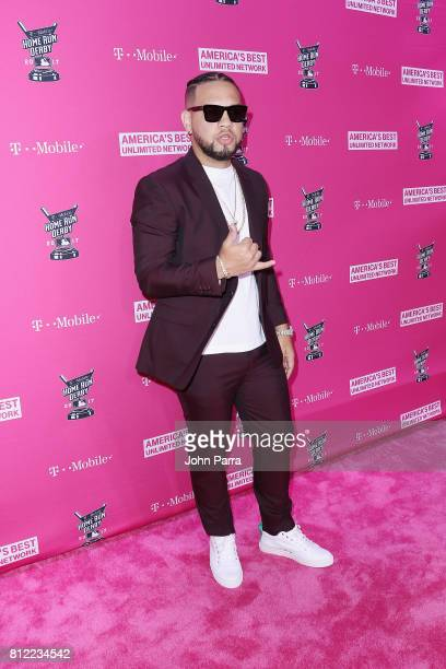 Lejuan James arrives at the TMobile Presents Derby After Dark at Faena Forum on July 10 2017 in Miami Beach Florida