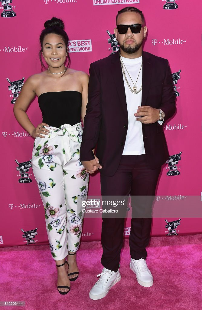 Lejuan James arrives at the T-Mobile Presents Derby After Dark at Faena Forum on uly 10, 2017 in Miami Beach, Florida.
