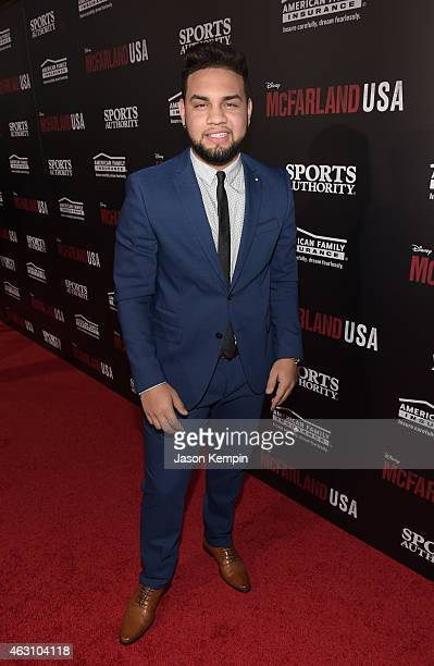 LeJuan James attends the premiere of Disney's 'McFarland USA' at the El Capitan Theatre on February 9 2015 in Hollywood California