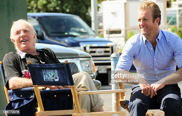 Lekio James Caan and son Scott Caan behind the scenes of HAWAII FIVE0 James Caan guest stars as Tony Archer a retired NYPD bomb expert who is now a...