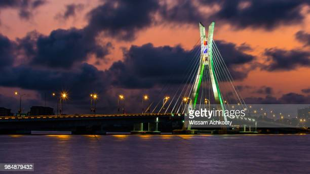 lekki-ikoyi bridge - nigeria stock pictures, royalty-free photos & images