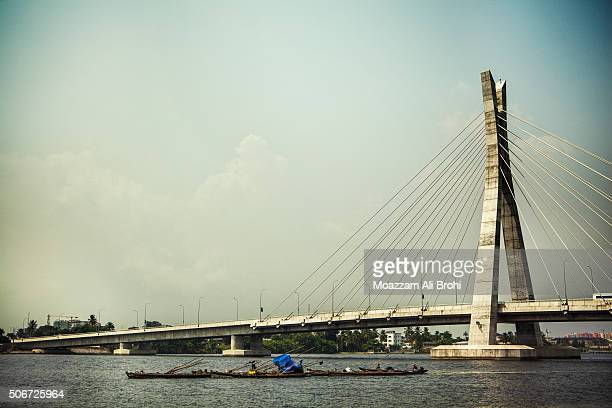 lekki-ikoyi link bridge in lagos nigeria - lagos nigeria stock pictures, royalty-free photos & images