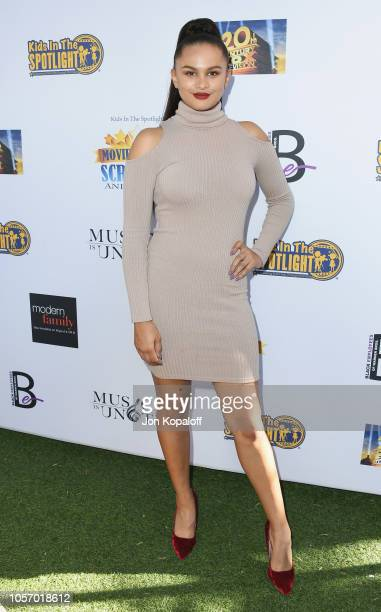 Lela B attends Kids In The Spotlight's 9th Annual Movies By Kids Awards Hosted By Ty Burrell at Zanuck Theater at 20th Century Fox Lot on November 3...
