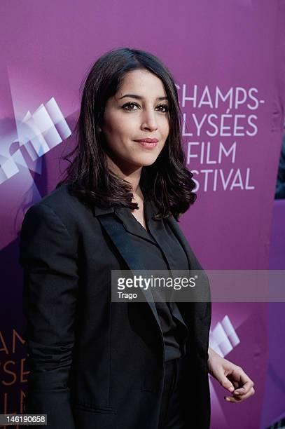 Leïla Bekhti attends 'Mains Armées' premiere during the ChampsElysees Film Festival at Cinema Gaumont Marignan on June 8 2012 in Paris France