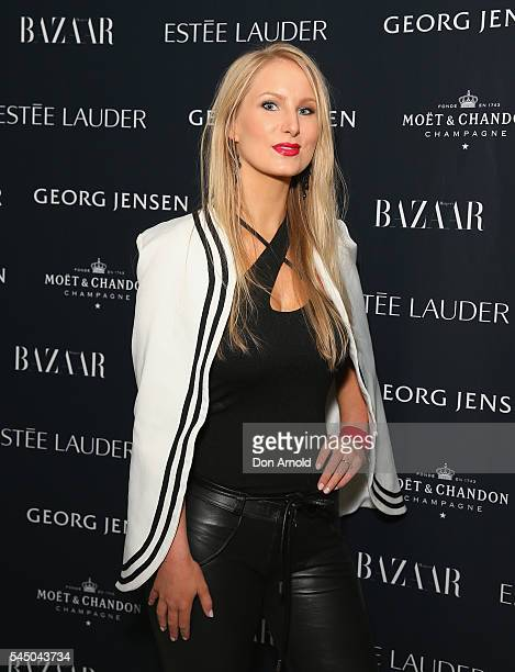 Lela Landovski arrives ahead of the Harper's Bazaar Fabulous At Every Age event at Missy French on July 5 2016 in Sydney Australia