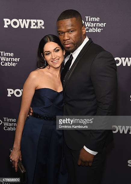 Lela Loren and 50 Cent attend 'Power' Season Two Series Premiere at Best Buy Theater on June 2 2015 in New York City