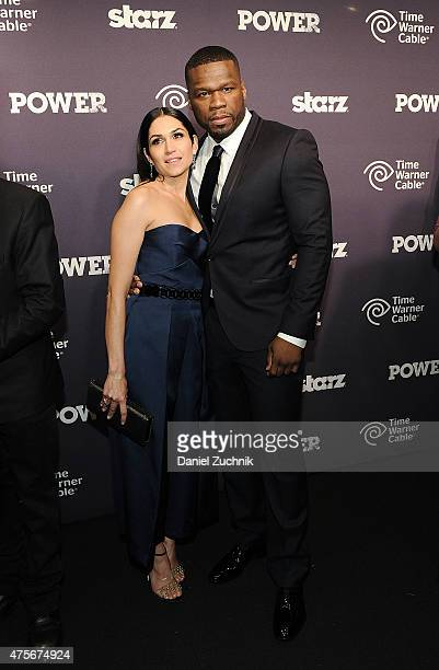 Lela Loren and 50 Cent attend the Power Season Two Series Premiere at Best Buy Theater on June 2 2015 in New York City