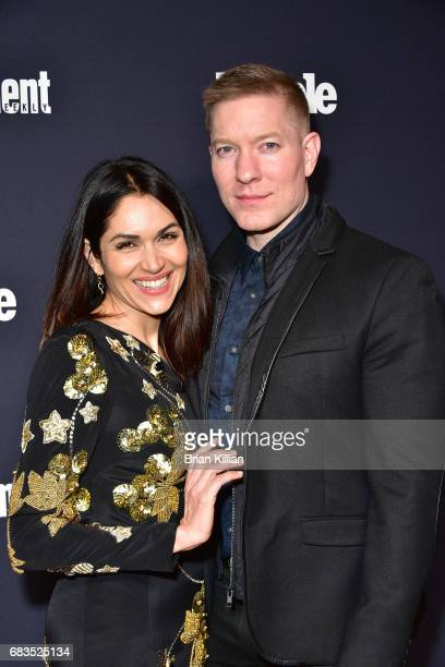 Lela Loren and Joseph Sikora attend the Entertainment Weekly People New York Upfronts at 849 6th Ave on May 15 2017 in New York City