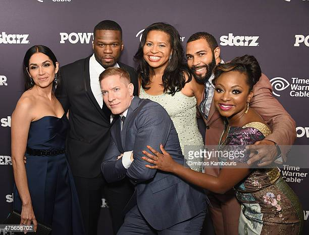 "Lela Loren, Curtis '50 Cent' Jackson, Joseph Sikora, Courtney Kemp Agboh, Omari Hardwick, and Naturi Naughton attend ""Power"" Season Two Series..."