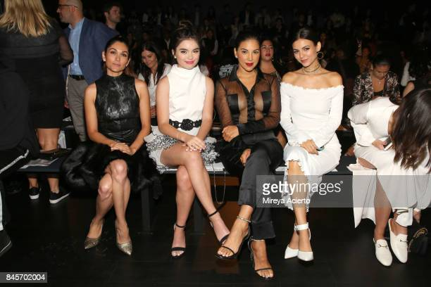 Lela Loren Landry Bender Liz Hernandez and Victoria Justice attend the John Paul Ataker fashion show during New York Fashion Week The Shows at...