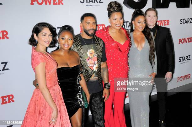 Lela Loren, Naturi Naughton, Omari Hardwick, Courtney A. Kemp, La La Anthony and Joseph Sikora attend the Power Final Season Premiere held at Madison...