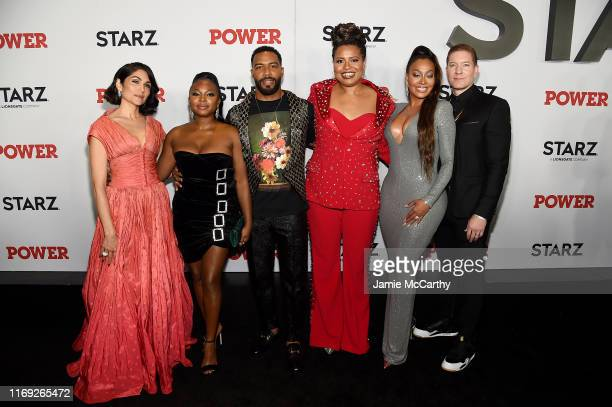 Lela Loren Naturi Naughton Omari Hardwick Courtney A Kemp La La Anthony and Joseph Sikora at STARZ Madison Square Garden Power Season 6 Red Carpet...