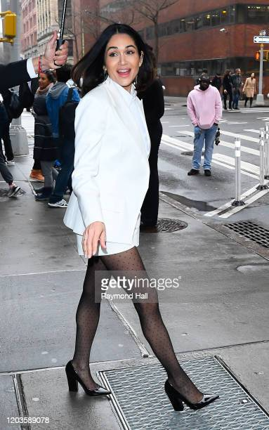 Lela Loren outside Build Studio on February 26, 2020 in New York City.
