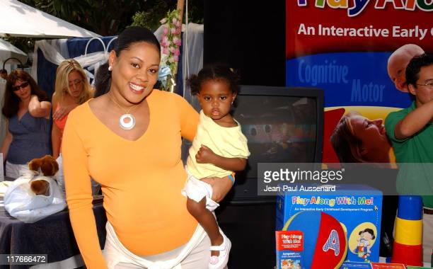 Lela Rochon and daughter Asia Rochon Fuqua at Nurture Basics Photo by JeanPaul Aussenard/WireImage for Silver Spoon