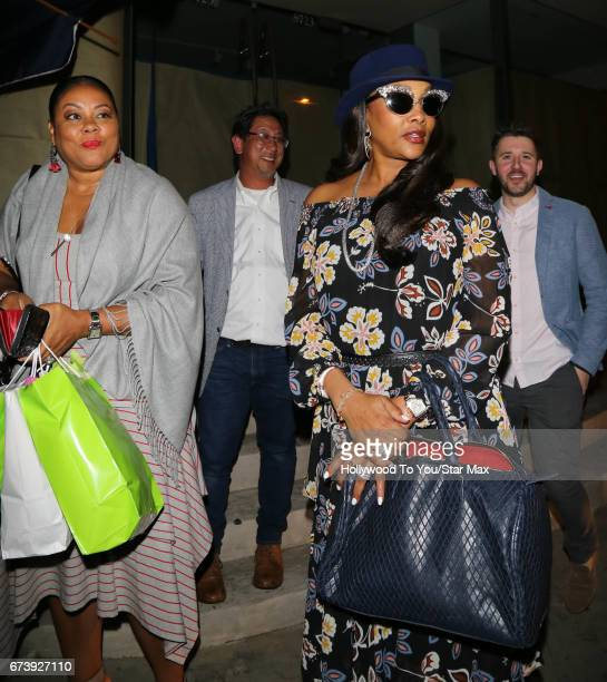 Lela Rochon and Vivica A Fox are seen on April 26 2017 in Los Angeles California