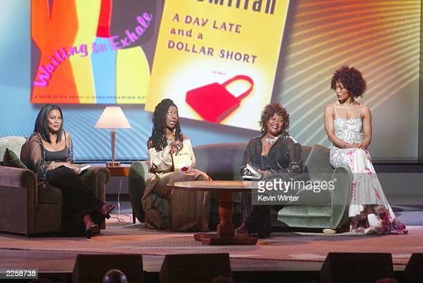 Lela Rochon Fuqua Phyllis Yvonne Stickney Loretta Divine and Angela Bassett at The 2002 Essence Awards at the Universal Amphitheatre in Los Angeles...