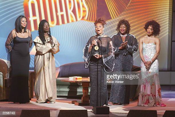 Lela Rochon Fuqua Phyllis Yvonne Stickney Terry McMillan Loretta Divine and Angela Bassett at The 2002 Essence Awards at the Universal Amphitheatre...