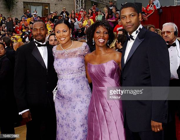 Lela Rochon husband Denzel Washington wife during The 74th Annual Academy Awards Arrivals at Kodak Theater in Hollywood California United States