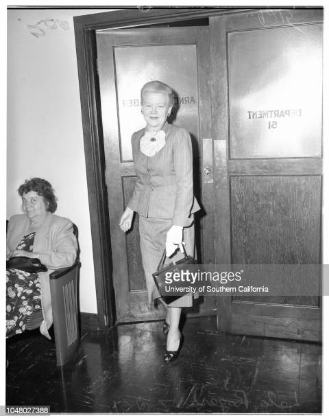 Lela Rogers Case July 10 1951 Lela RogersAttorney Pat A McCormickMorris RyskindRobert ArthurAyn Rand O'ConnorFrank O'ConnorAttorney Max FinkDon Lowery
