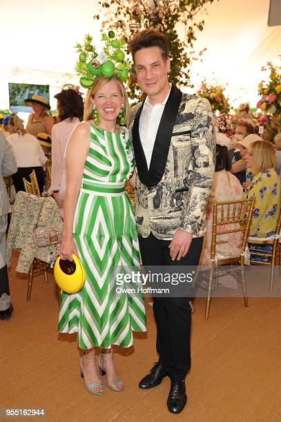 Lela Rose and Cameron Silver attend 36th Annual Frederick Law Olmsted Awards Luncheon Central Park Conservancy at The Conservatory Garden in Central...
